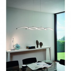 LED Ceiling Light Aluminum 1200mm 2x 14W 3000K LASANA 2 Eglo