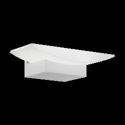LED Sconce In Satin White or Nickel Matt 5.6W 680lm METRASS Eglo