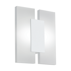 LED Sconce In Satin White or Nickel Matt  2x 4.5W 960lm METRASS Eglo