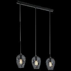 Ceiling Light Black Metallic 3x 60E E27 NEWTOWN Eglo