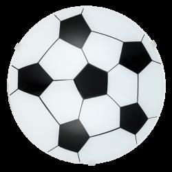 Παιδικό Φωτιστικό Οροφής - Τοίχου Με Θέμα Ποδόσφαιρο Ø24,5cm 1x E27 60W JUNIOR 1 Eglo