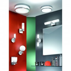 Bathroom Sconce In Nickel Matt With Opal Glass LED 2x 33W G9 IP44 Dimmable PALERMO Eglo