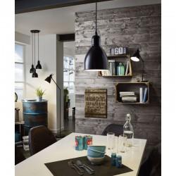 Ceiling Light Black Metallic 3x 60W E27 PRIDDY Eglo