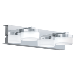 LED Bathroom Sconce In Chrome Satin Color  2x 4,5W 960 lm IP44 ROMENDO Eglo