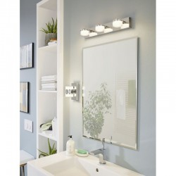 LED Bathroom Sconce In Satin Chrome Color 2x 7,2W 1140lm IP44 Dimmable ROMENDO 1 Eglo