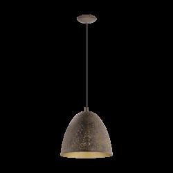 Ceiling Single Light Metalic in Brown - Gold Color Ø27,5cm 1x E27 60W SAFI Eglo