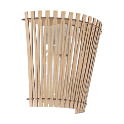 Sconce In Wooden Varius Colors 1x 60W E27 SENDERO Eglo