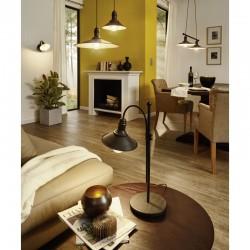 Vintage Sconce Light Steel in Brown Antique Color 1x 60W E27 STOCKBURY Eglo