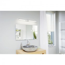 LED Bathroom Sconce In Chrome - White 780mm 14W 1700lm IP44 VADUMI Eglo