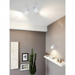 Φωτιστικό Σποτ Δίφωτο Σε Λευκό 2x 10W E14 LED VALBIANO Eglo