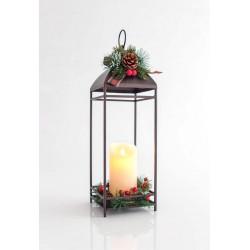 LED Illuminated Lantern With Candle 14x14x43cm IP20 Magic Christmas
