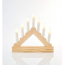 Candlestick With 7 LED Candles 22x3.5x21.5 cm IP20 Magic Christmas