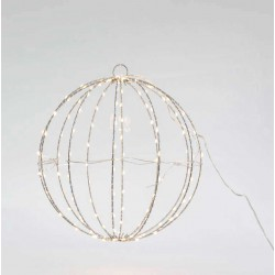 Metallic Illuminated Ball In Silver Frame And Various Colors Of Lighting 144 LED Ø30 IP44 Magic Christmas