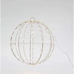 Μεταλλική Φωτιζόμενη Μπάλα Σε Ασημένιο Πλαίσιο Και Διάφορα Χρώματα Φωτισμού 144 LED Ø30 IP44 Magic Christmas