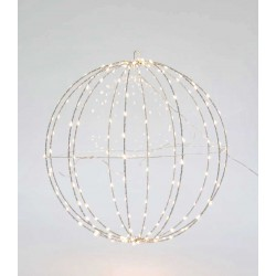 Metallic Illuminated Ball In Silver Frame And Various Colors Of Lighting 240 LED Ø40 IP44 Magic Christmas