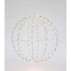 Μεταλλική Φωτιζόμενη Μπάλα Σε Ασημένιο Πλαίσιο Και Διάφορα Χρώματα Φωτισμού 240 LED Ø40 IP44 Magic Christmas