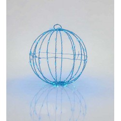Metallic Illuminated Ball In Silver Frame And Various Colors Of Lighting 96 LED Ø20 IP44 Magic Christmas