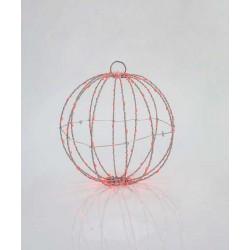 Μεταλλική Φωτιζόμενη Μπάλα Σε Ασημένιο Πλαίσιο Και Διάφορα Χρώματα Φωτισμού 96 LED Ø20 IP44 Magic Christmas