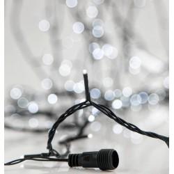 280 LED Σε Σειρά Με Επέκταση Και Πρόγραμμα Με Πράσινο Καλώδιο Σε Ψυχρό Λευκό DIMMABLE - 20,92m 8500Κ IP44 Magic Christmas