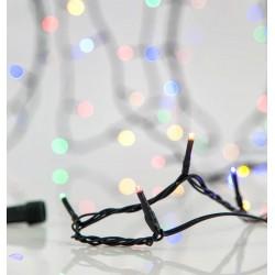280 LED Σε Σειρά Με Επέκταση Και Πρόγραμμα Με Πράσινο Καλώδιο Πολύχρωμο DIMMABLE - 20,92m IP44 Magic Christmas