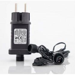 Μετασχηματιστής Για LED Σε Σειρά Με Επέκταση - 3m IP44 31V / 12W max 1500 LED Magic Christmas