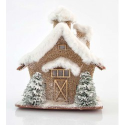 LED Christmas House With Stones 20x13x23cm - 2x AA Magic Christmas