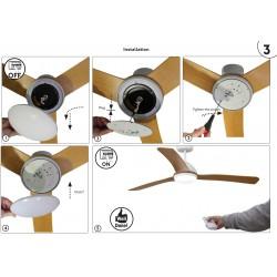 Accessory Light Kit For Ceiling Fan GRID Model 18W 3000K 1500lm FARO