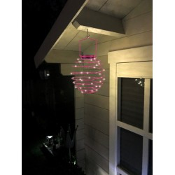 35 LED Solar Spiral Lanterns In Various Colors EZSOLAR