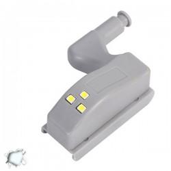 Φωτιστικό Ντουλάπας LED για Μεντεσέ με Διακόπτη On/Off Κουμπωτό Θερμό και Ψυχρό Λευκό GloboStar