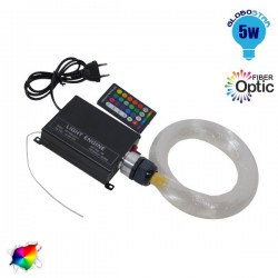 Optical Fiber Kit 150 5 Watt RGB with Wireless Controller GloboStar