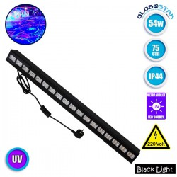 LED Μπάρα Φωτισμού UV Black Light 54 Watt 75cm GloboStar