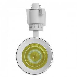 Μονοφασικό Bridgelux COB LED Λευκό Φωτιστικό Σποτ Ράγας 20W 230V 2400lm 30 Μοιρών GloboStar