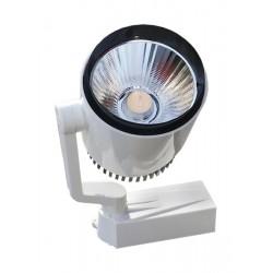 Μονοφασικό Bridgelux COB LED Φωτιστικό Σποτ Ράγας 20W 230V 3000lm 24 Μοίρων Θερμό Λευκό 3000K GloboStar