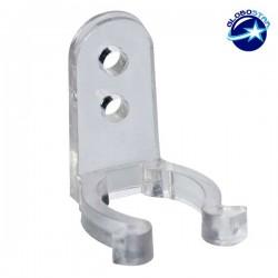 Πλαστική PVC Βάση Στήριξης για Φωτοσωλήνα LED GloboStar