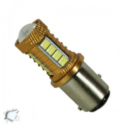 Lamp 1157 32 SMD 4014 and 1 Cree LED Can Bus 12v Cold 6000k GloboStar