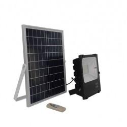Αυτόνομος Ηλιακός Φωτοβολταϊκός Προβολέας LED 100 Watt IP 65 με Ασύρματο Χειριστήριο Ψυχρό Λευκό 6000k GloboStar