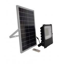 Αυτόνομος Ηλιακός Φωτοβολταϊκός Προβολέας LED 150 Watt IP 65 με Ασύρματο Χειριστήριο Ψυχρό Λευκό 6000k GloboStar