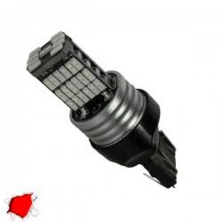 Λαμπτήρας LED T20 7443 με 45 SMD Can Bus 10-30v 4014 Κόκκινο GloboStar