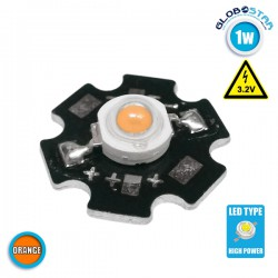 High Power Star LED 1W 3.2V Orange GloboStar