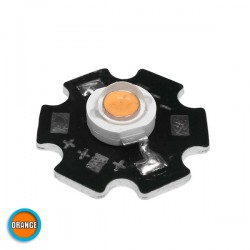 High Power Star LED 3W 3.2V Orange GloboStar