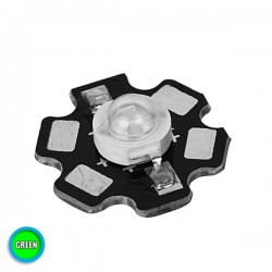 High Power Star LED 5W 3.2V Green GloboStar