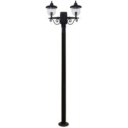 Outdoor Bollard Floor Lamp 200cm LP-810ΕΒ 2/L BLACK Hercules Heronia Lighting