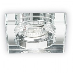 Recessed Spot Made of Polished Aluminum and White Glass 1 x 50W GU10 BLUES SQUARE IDEAL LUX