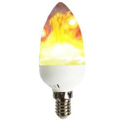 LED E14 Κεράκι Flame Με Εφέ Φλόγας 3W Led Id