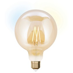 LED Idual Λάμπα Filament Με Τηλεχειριστήριο Για Εναλλαγή Φωτισμού G125 9W E27 2200K-5500K 240V 36° LUTEC