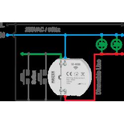 Dimmer Κυτίου 300W LED 230V AC SD-400B MASTER