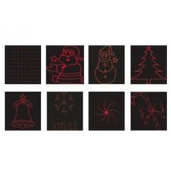 Christmas Laser Flood Luminaire, Green & Red Laser Beam IP44 ACA