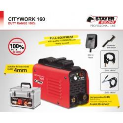 Ηλεκτροσυγκόλληση Ηλεκτροδίου STAYER CITY WORK 160 A Κύκλος Εργασίας 100%
