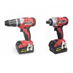 Stayer Set Hammer Drill & Pulse 4.0Ah Li-Ion 18V  (with 2 batteries)  - PBL 224 PK + ISL 224