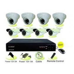 Recorder DVR AHD-M 720P 8CH KIT 4XCAM IN/4XOUT K811 ZBEN Top Electronic